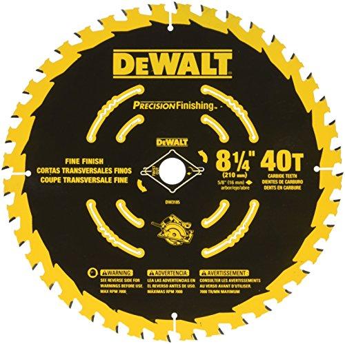 DEWALT DW3185 8-14-Inch 40T Precision Framing Saw Blade