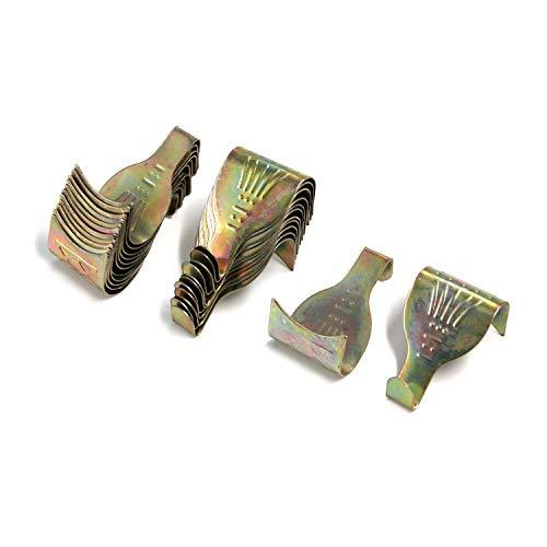 Geesatis Set of 50 Bronze Tone Moulding Hanging Hook Picture Photo Frame Rail Hangers Heavy Duty Hangers Moulding Hooks