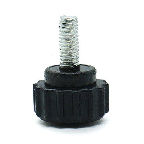 Gonioa 10-Piece Threaded Knurled Thumbscrew Grip Knobs Thumb Screw for Machinery LatcheM4x10mm