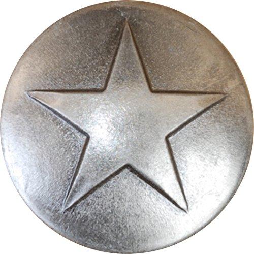 25 Old Silver Large Star Upholstery Framing Tacks Decorative Nails 1 18 Dia 34 Long Western Texas