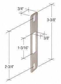 CRL 34 Wide Stainless Steel Lock Keeper 2-34 Screw Holes