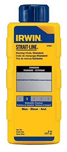 IRWIN Tools STRAIT-LINE 64901 Standard Marking Chalk 8-ounce Blue 64901