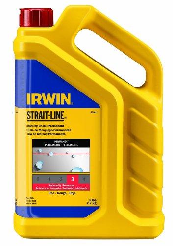 IRWIN Tools STRAIT-LINE Standard Marking Chalk 5-pound Red 65102