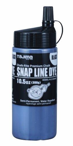 Tajima PLC3-BK300 Chalk-Rite 105-Ounce Snap Line Black Powder Dye