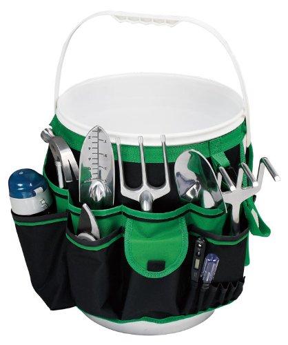 Apollo Precision Tools DT0825 Garden Tool Organizer BlackGreen 5-Gallon Bucket