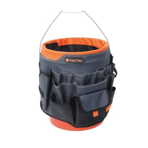 Tactix 323167 Bucket Organizer Tool Bag BlackOrange