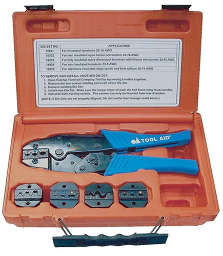 S G Tool Aid 18920 Ratcheting Terminal Crimping Kit- 5 Piece