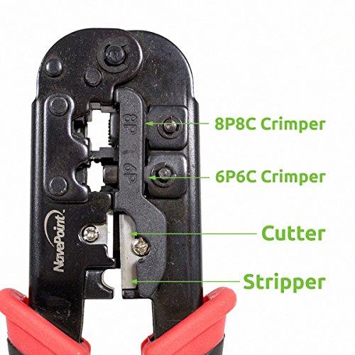 NavePoint Premium Wire Crimper Cutter Stripper - Rj45
