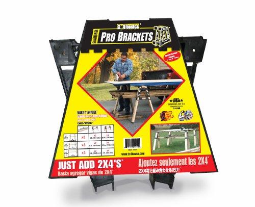 2x4basics 90196 Black ProBrackets Sawhorse Pack of 2