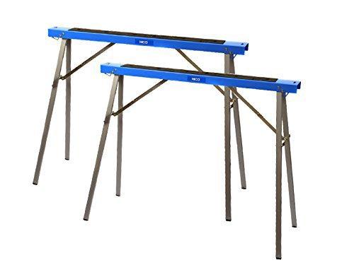 HICO USH1100 Folding Metal Sawhorse Twin Pack