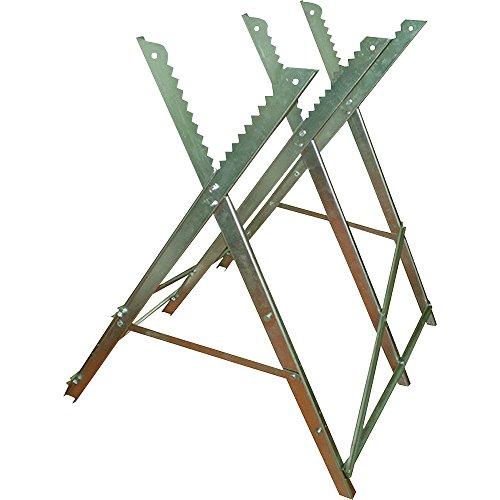 Ironton Adjustable Steel Sawhorse - 330-Lb Capacity