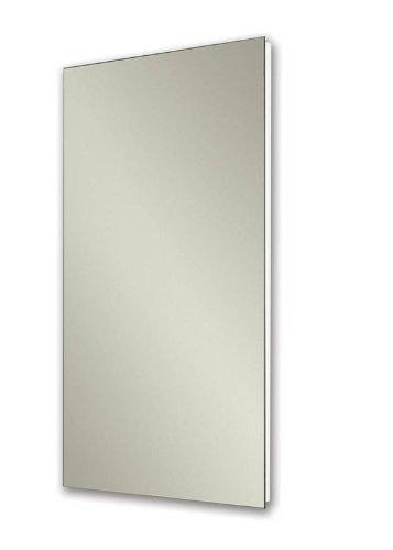 Jensen 1035P24WHG Cove Single-Door Recessed Mount Frameless Medicine Cabinet 14 by 24-Inch