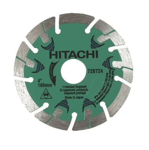 Hitachi 728724 4-Inch Segmented Rim Diamond Saw Blade for Concrete and Masonry Dry Cut