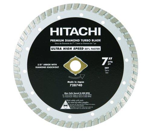 Hitachi 728740 7-Inch Dry Cut Turbo Diamond Saw Blade for Concrete and Masonry