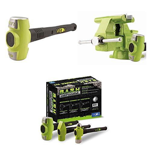 Wilton Bash 65 Inch Vise And 12 Inch Hammer  3 Piece Mechanics Hammer Set